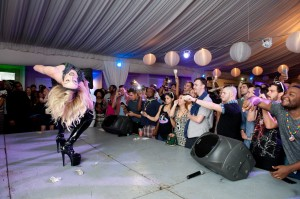 Laganja Estranja wows the crowd at the Barefoot Bear Garten
