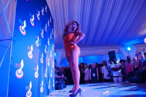 Shangela puts on a show at the Barefoot Bear Garten in Atlanta